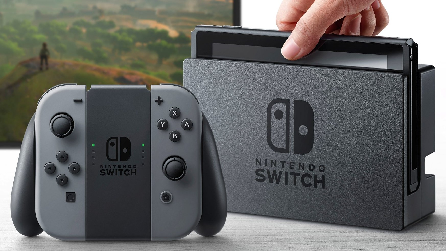 Nintendo Switch console plays games home and away