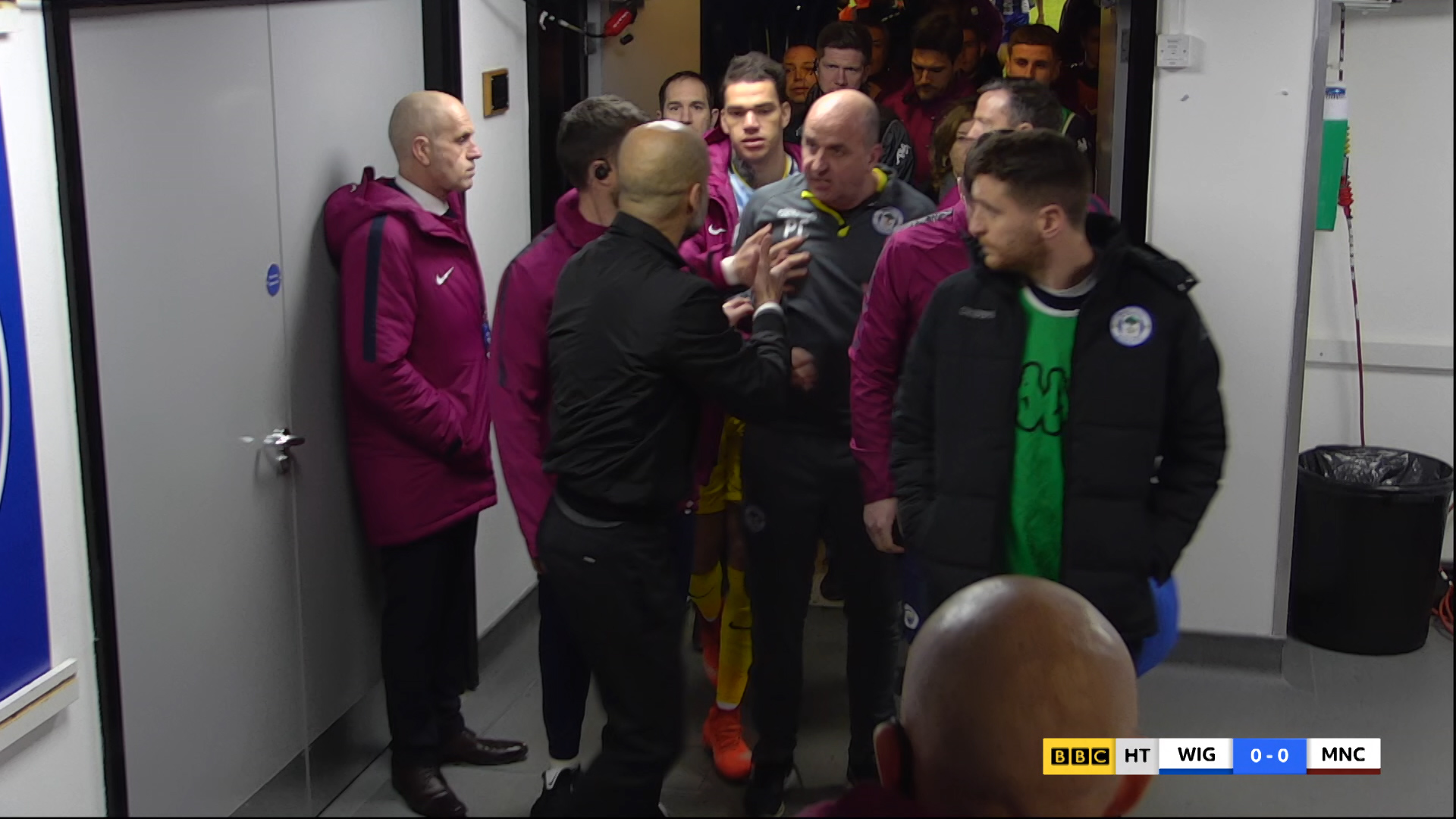 Watch: Delph red card & tunnel fracas