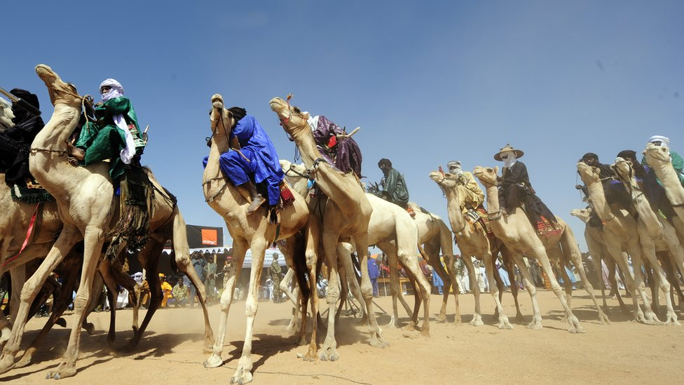 Tuaregs in the north of Niger