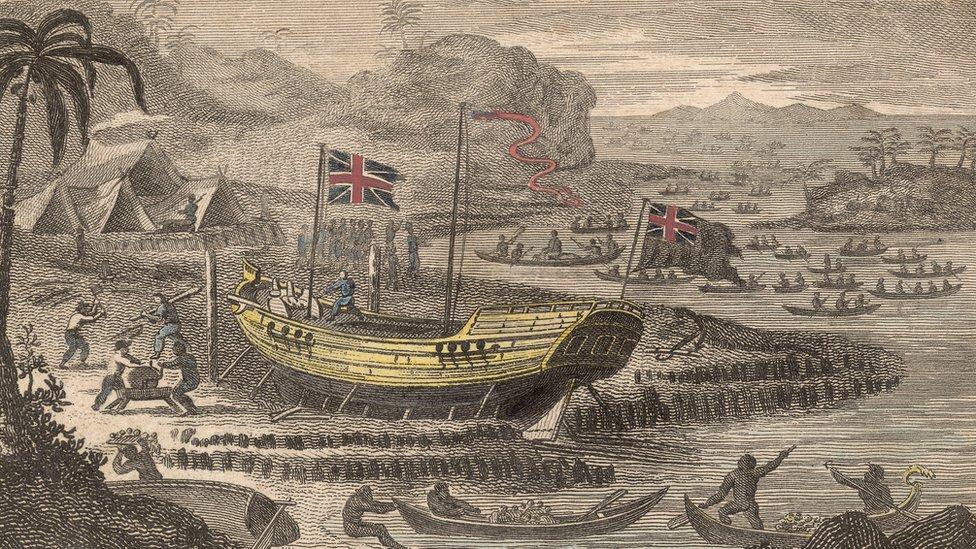 English vessel  'Antelope'