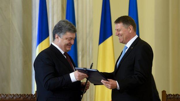 Зустріч президента Порошенка з президентом Румунії Клаусом Йоханнісом