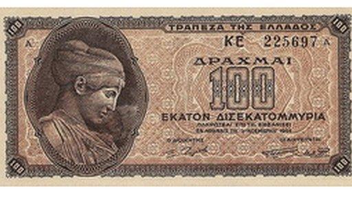 La máxima inflación en Grecia llegó en 1944.