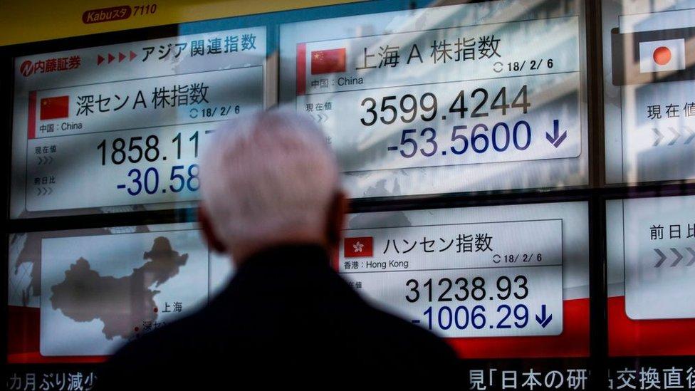 Азійські фондові індекси впали слідом за Доу-Джонсом