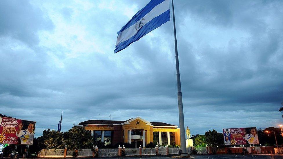 El antiguo palacio presidencial de Nicaragua, rebautizado como
