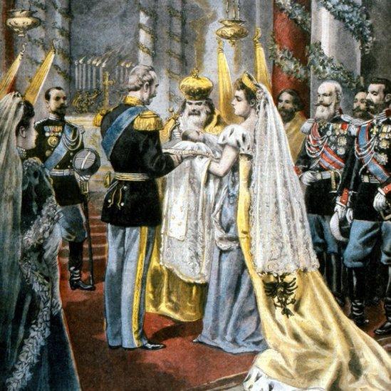 En ese cuadro se recrea el bautizo de la Gran Duquesa Tatiana, hija el zar Nicolás II. Sofya Kovalevskaya vivió en una época en la que se limitaba el desarrollo académico de las mujeres en la Rusia zarista.