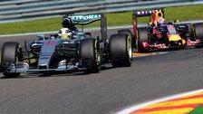 Mercedes' Lewis Hamilton and Red Bull's Daniel Ricciardo