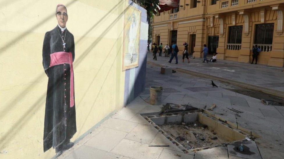 Mural del monseñor Romero.