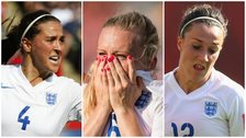 Fara Wiliams, Laura Bassett and Lucy Bronze