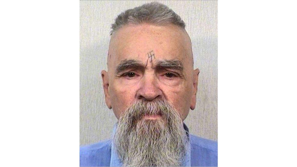 El asesino convicto Charles Manson