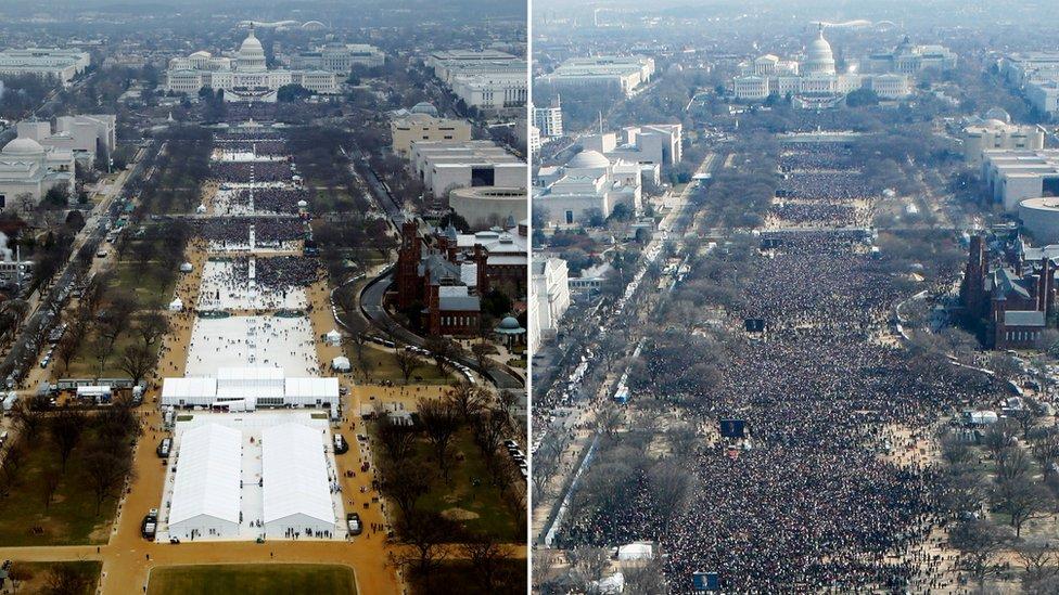 Белый дом критикует СМИ за освещение инаугурации