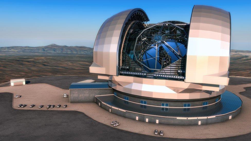 Ilustración del Telescopio Extremadamente Grande (ESO)