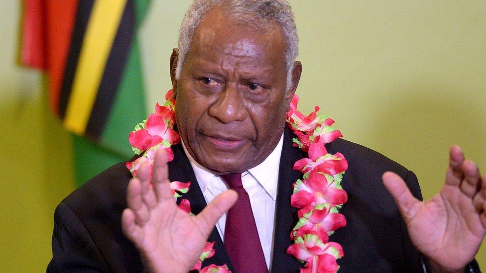 Vanuatu's president, Baldwin Lonsdale