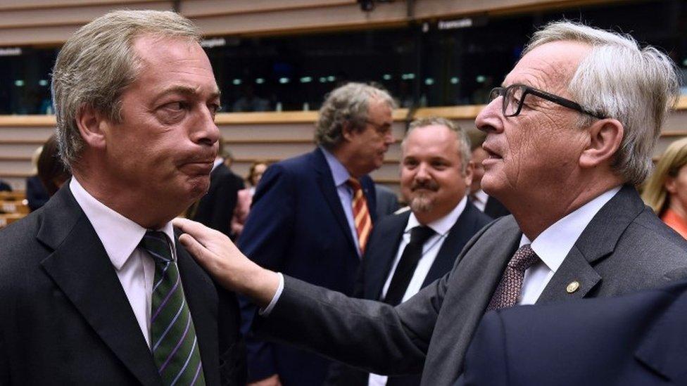 Brexit vote: Bitter exchanges as EU parliament debates Brexit