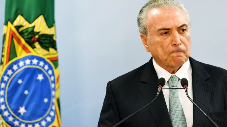 Michel Temer: Brazil president 'won't quit' over bribe claim