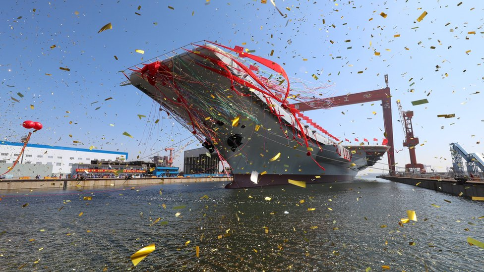 China launches aircraft carrier, boosting military presence
