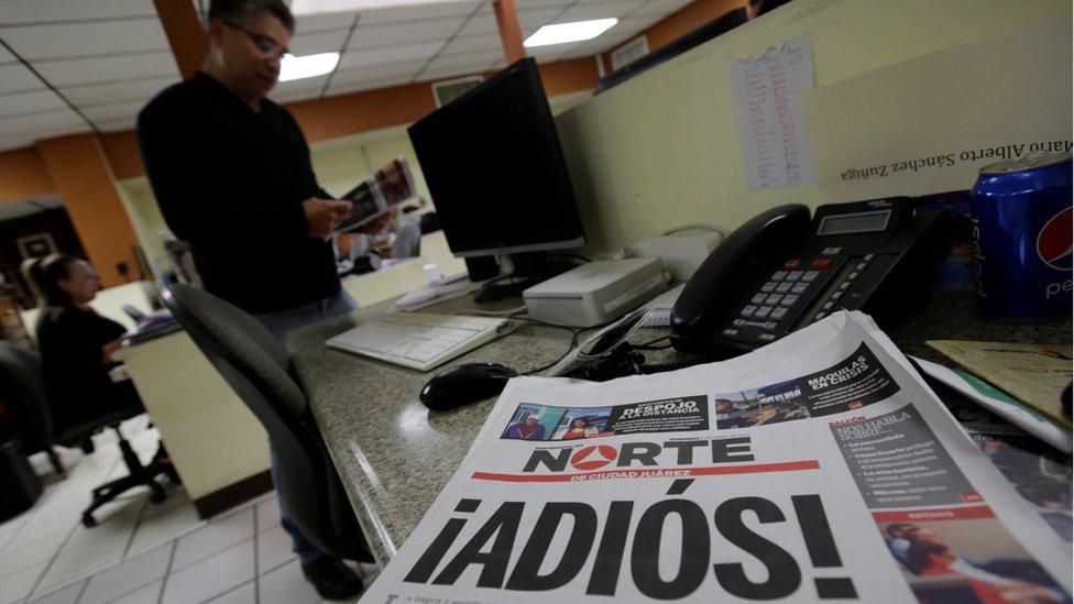 La portada de la última edición impresa del diario Norte de Ciudad de Juárez.
