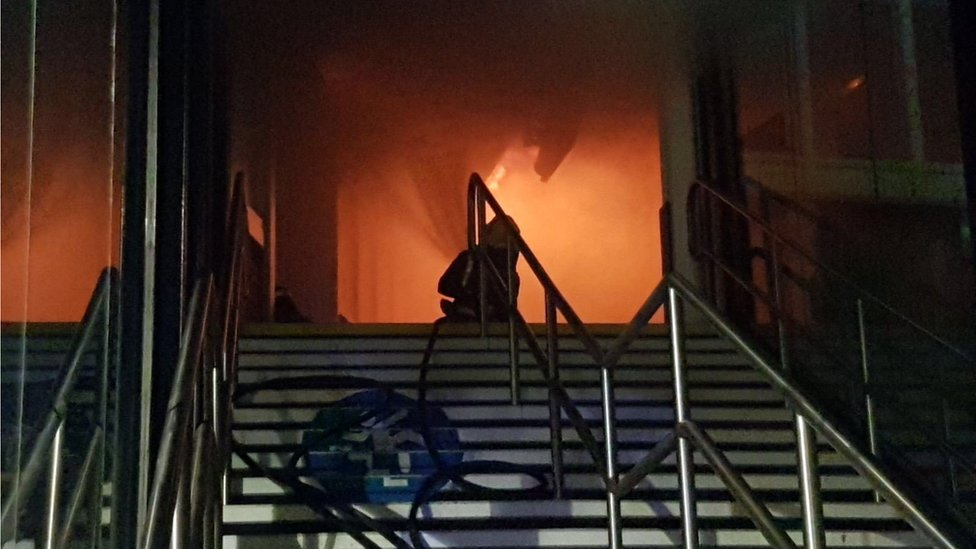 Nottingham rail station fire causes travel chaos