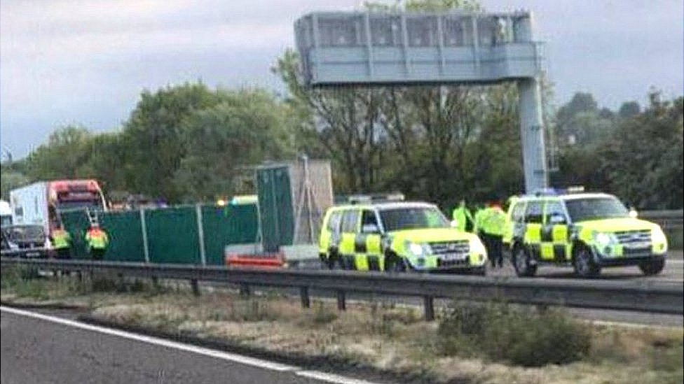 Five die as car and lorry crash on M6 in Staffordshire