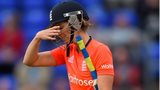 Charlotte Edwards reacts