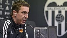 Valencia manager Gary Neville