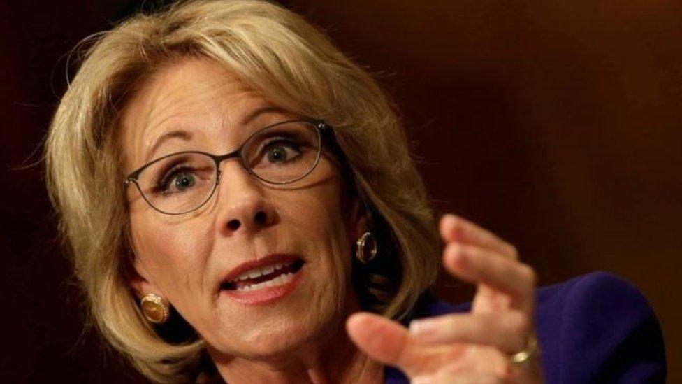 Betsy DeVos, secretaria de educación de EE.UU.