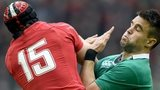 Leigh Halfpenny and Conor Murray compete for the ball in the 2015 Six Nations