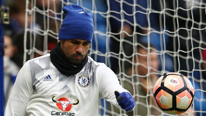 Diego Costa: Chelsea striker trains with first team following China interest
