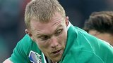 Keith Earls scored Ireland's try against Italy