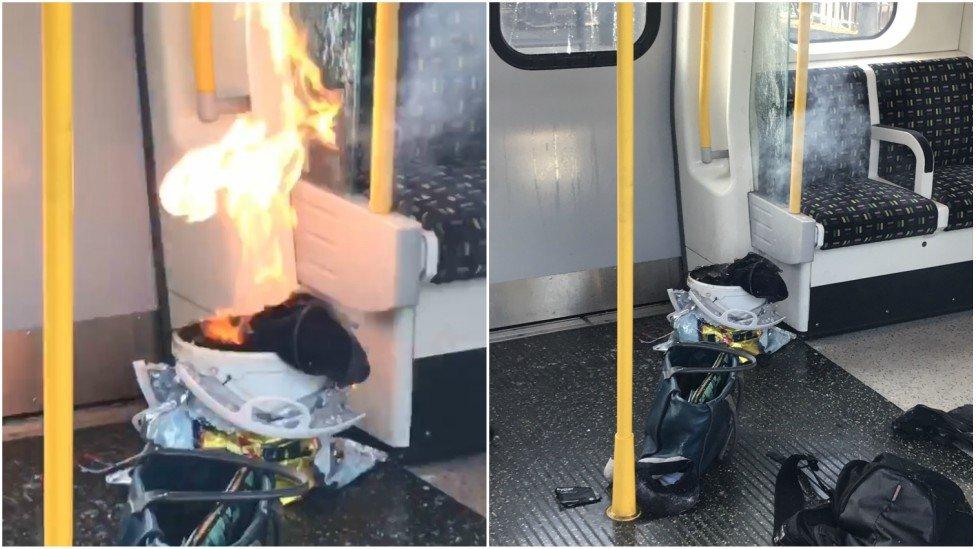 El explosivo se detonó parcialmente en el vagón en Parsons Green, Londres.