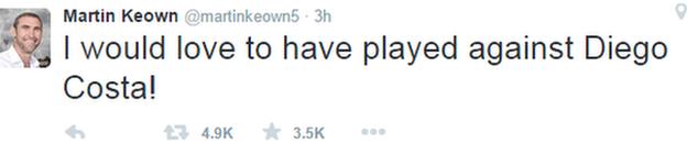 Martin Keown tweet