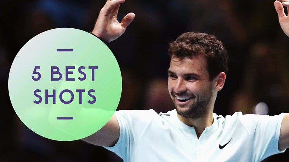Grigor Dimitrov beats David Goffin in ATP Finals - best shots