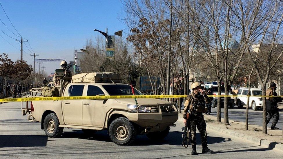 Las fuerzas de seguridad sellaron la zona tras el ataque.