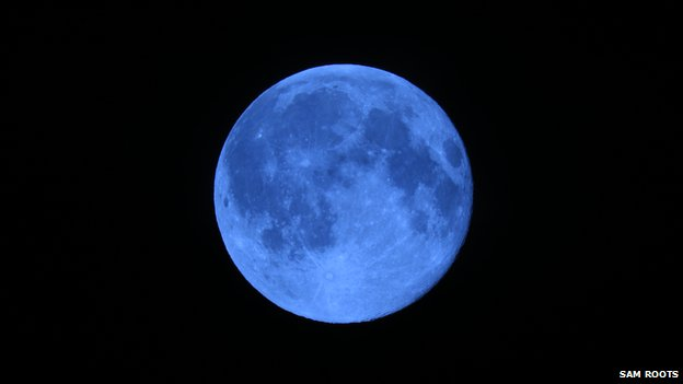 An image of a blue moon