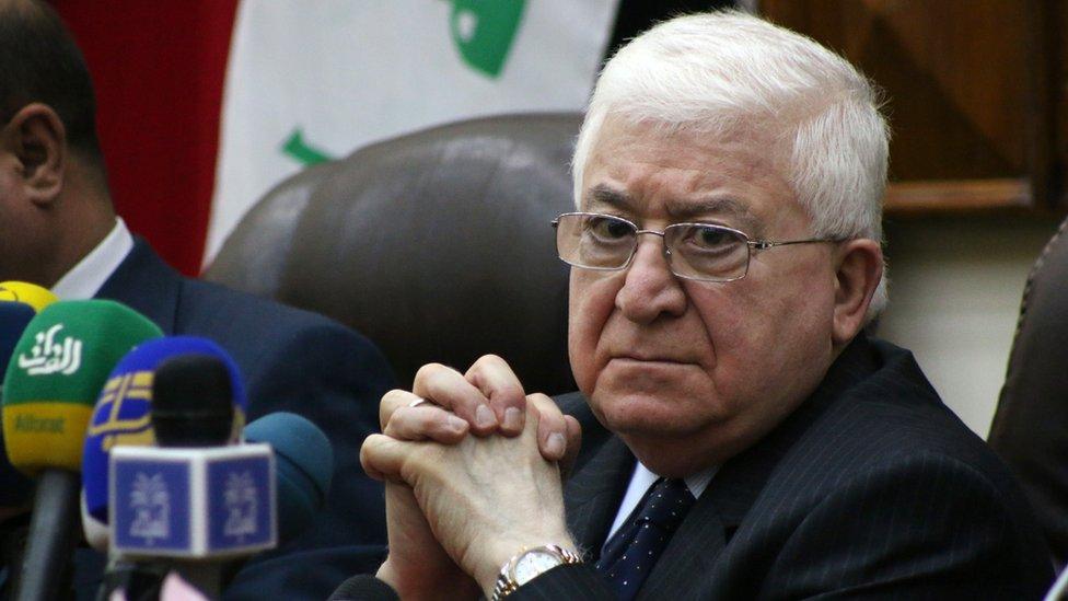 Iraqi President Fuad Masum