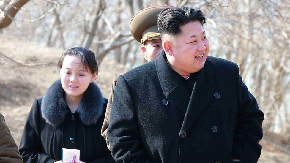 Kim Yo-jong ha aparecido en diversas ocasiones junto a su hermano.