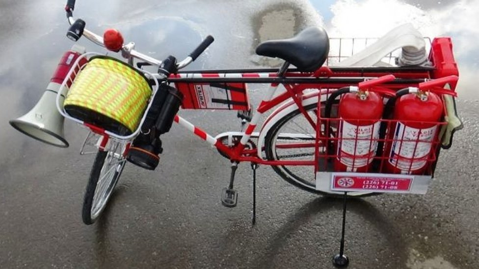 Uzbek nurses, firefighters told to get on their bikes