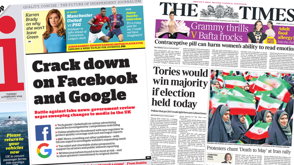 The Papers: Online 'crackdown' and election prediction