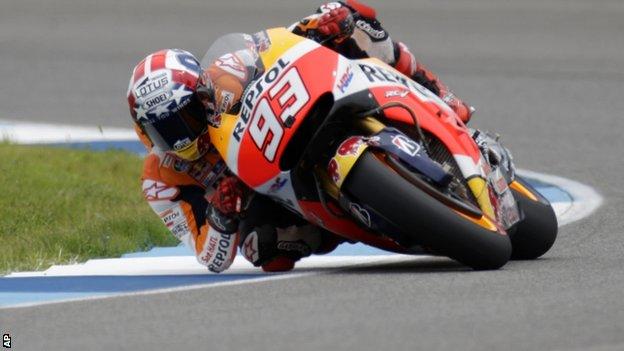 BBC Sport - MotoGP: Marc Marquez takes victory at Indianapolis