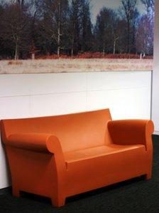Lone orange sofa, December 2007