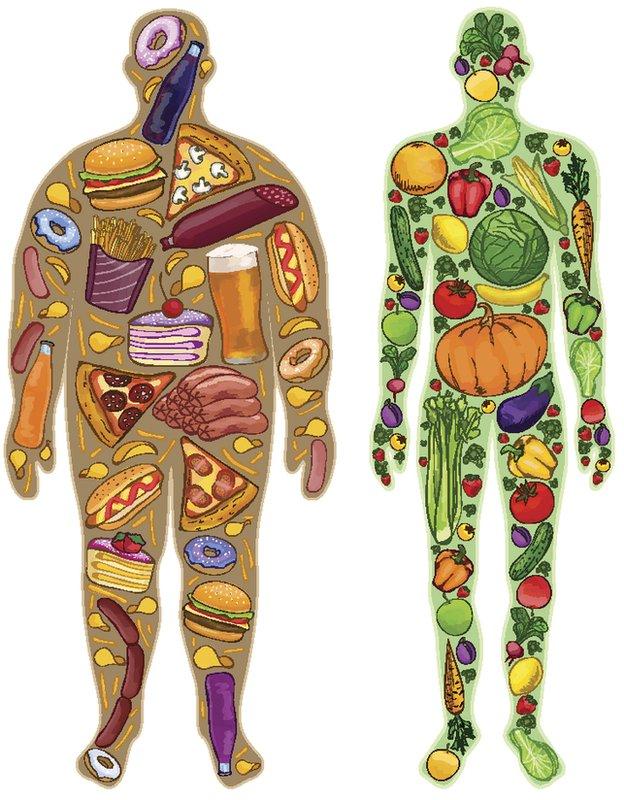 Hombre gordo y hombre flaco