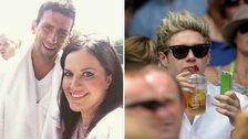 Abby Rose, Novak Djokovic and Niall Horan