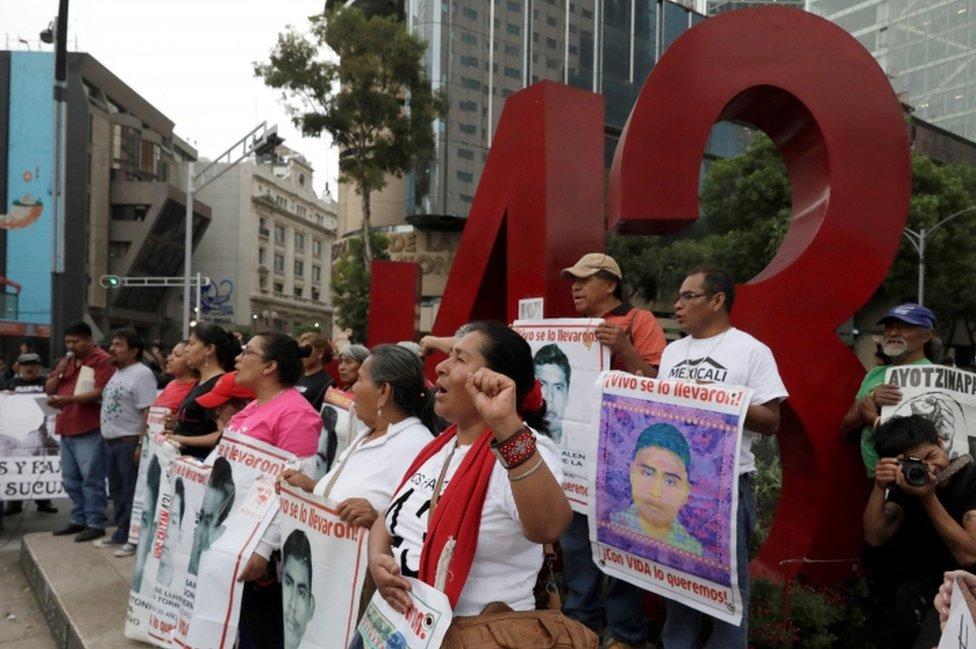 Manifestación por Ayotzinapa.