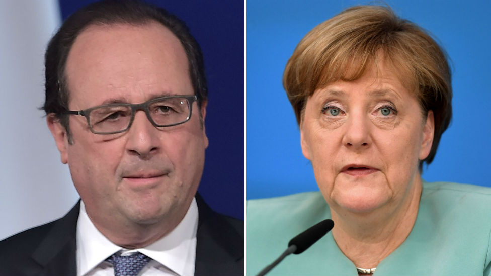 Brexit: France and Germany 'in agreement' over UK's EU exit
