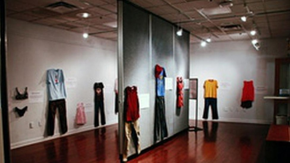 Rape victims' clothing on display at Belgian exhibition