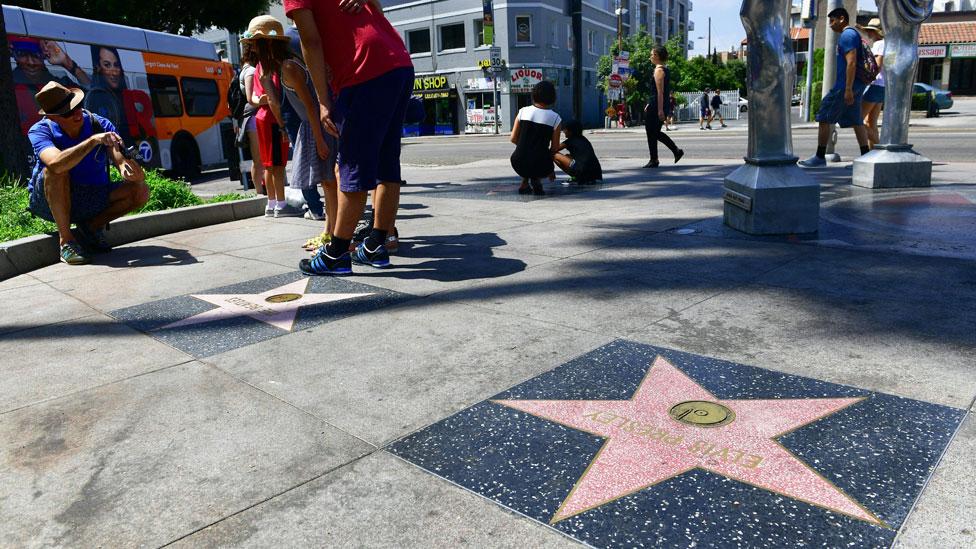 El paseo de las estrellas de Hollywood