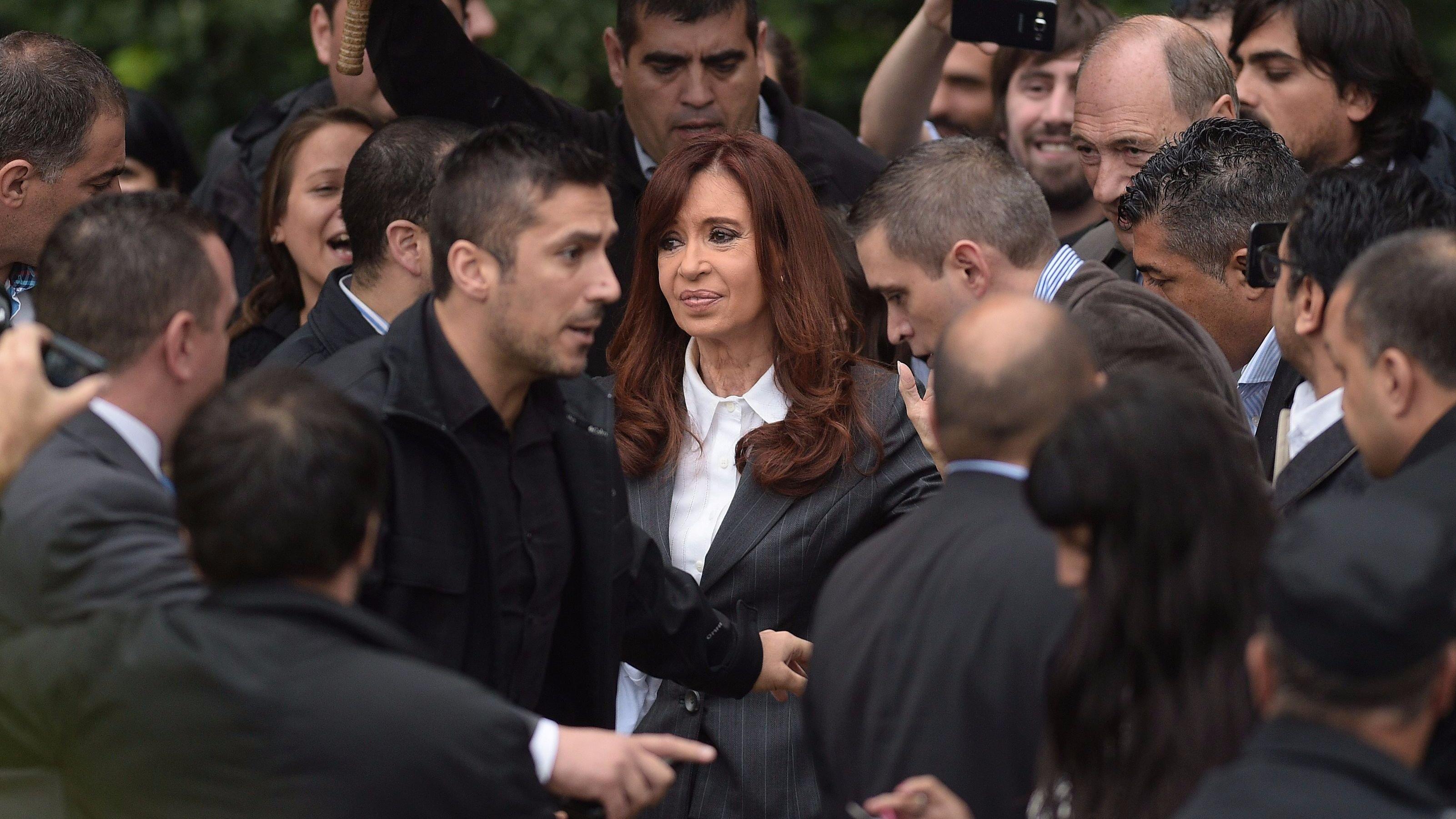 Kirchner en los tribunales de Buenos Aires.