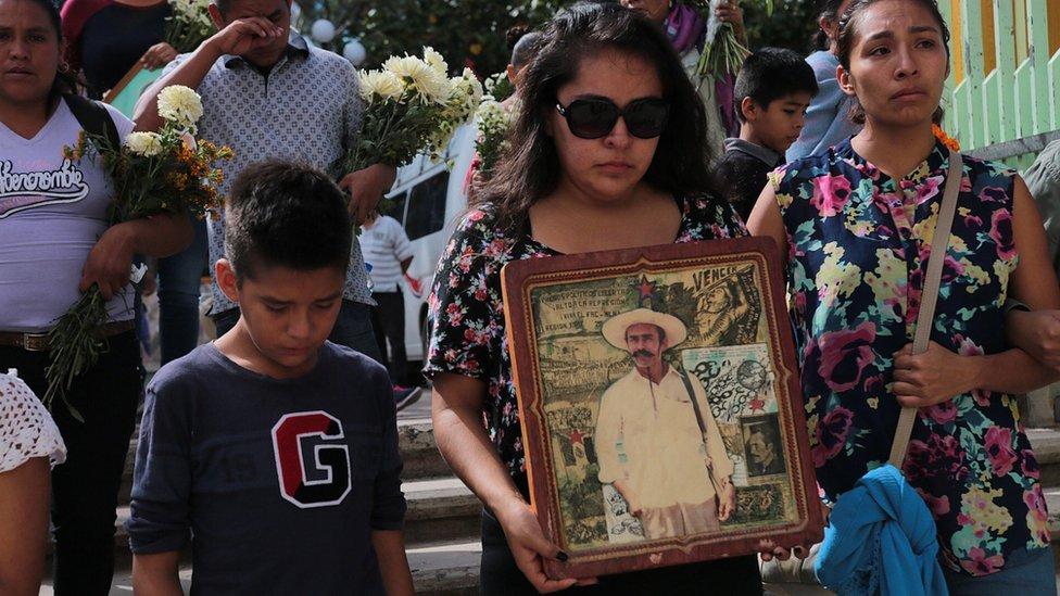Funeral de Ranferi Hernández.