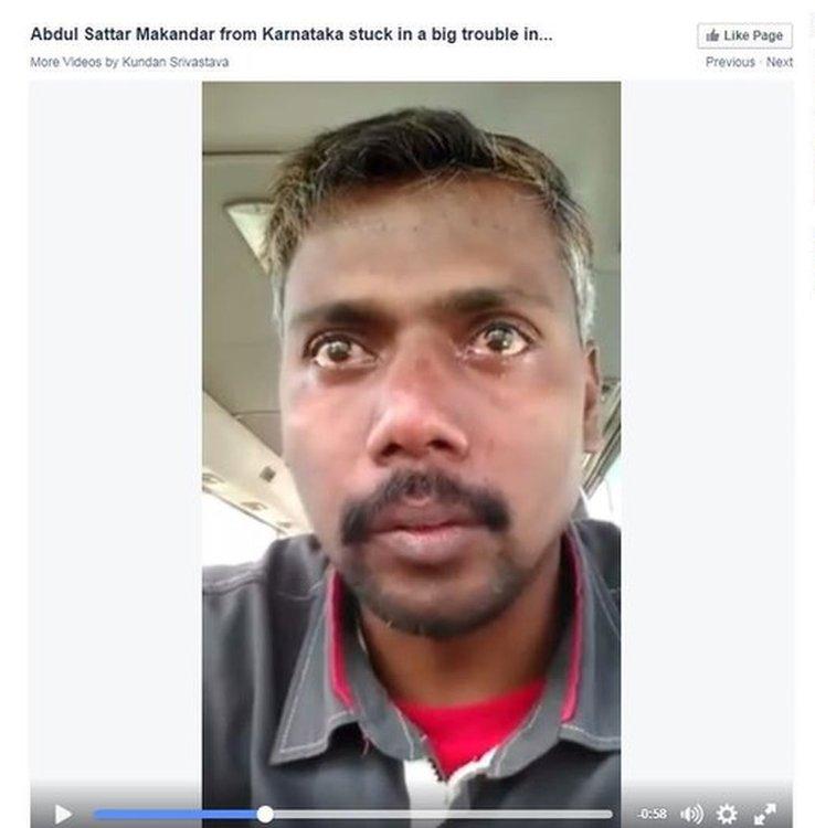 Screen grab of video by Abdul Sattar Makandar