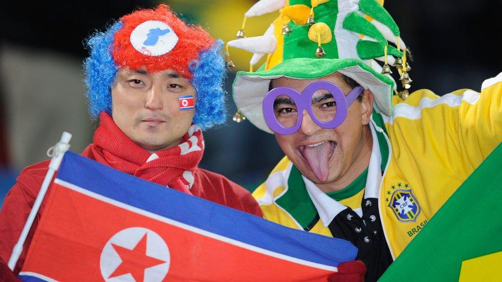 El futbol juntó a Corea del Norte y Brasil en el Mundial de 2010.