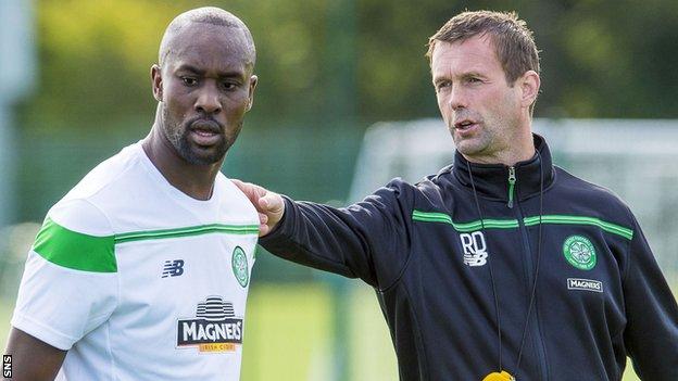 Carlton Cole and Celtic manager Ronny Deila